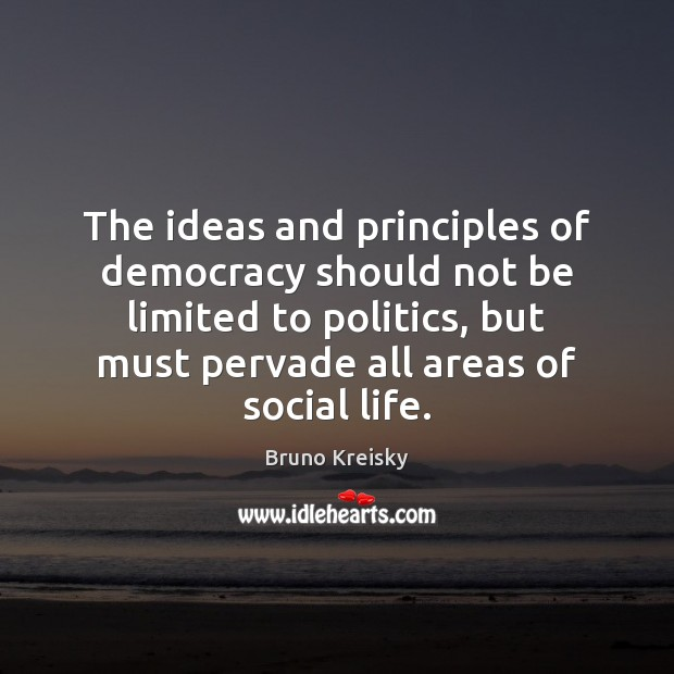 Image, The ideas and principles of democracy should not be limited to politics,