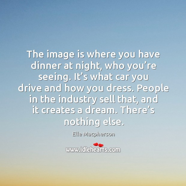 Image, The image is where you have dinner at night, who you're seeing.