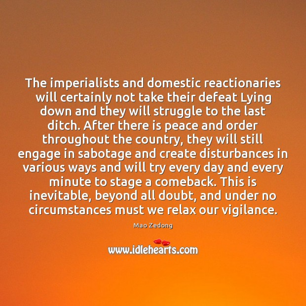 Image, The imperialists and domestic reactionaries will certainly not take their defeat Lying