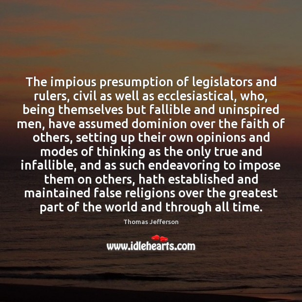 The impious presumption of legislators and rulers, civil as well as ecclesiastical, Image