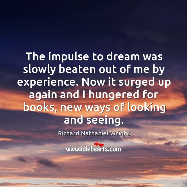 The impulse to dream was slowly beaten out of me by experience. Image