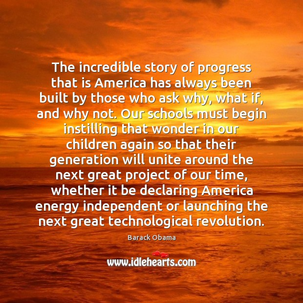 The incredible story of progress that is America has always been built Image