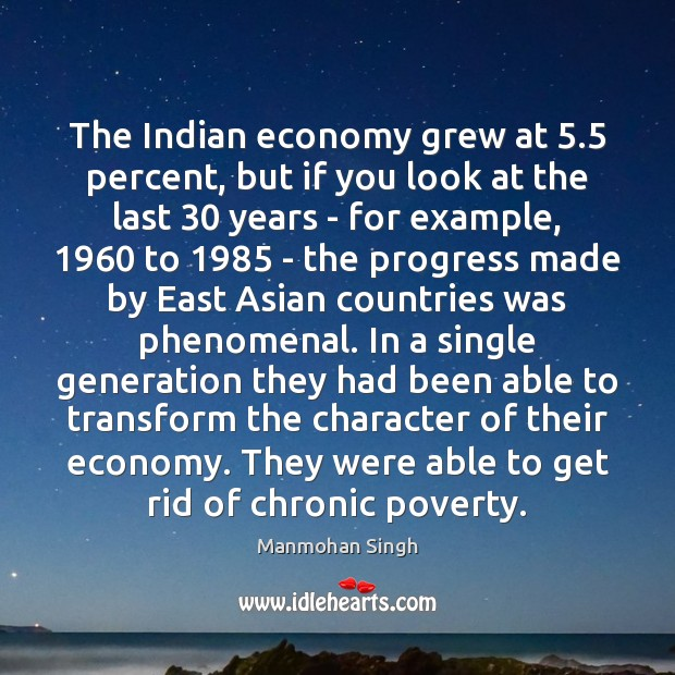 The Indian economy grew at 5.5 percent, but if you look at the Image
