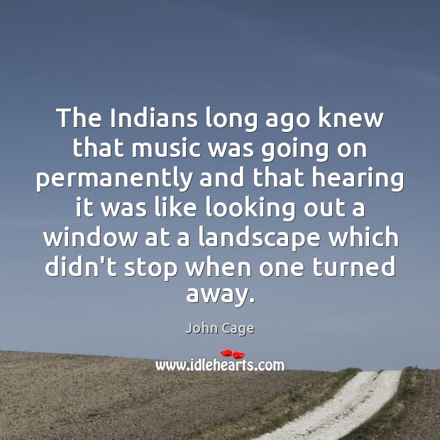Image about The Indians long ago knew that music was going on permanently and