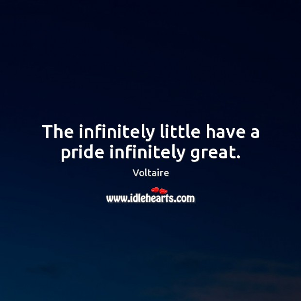 Image, The infinitely little have a pride infinitely great.