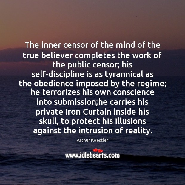 The inner censor of the mind of the true believer completes the Submission Quotes Image