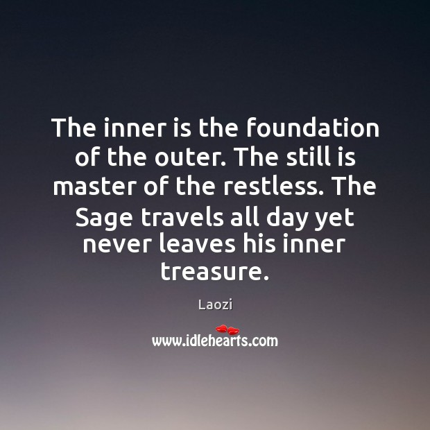 Image, The inner is the foundation of the outer. The still is master