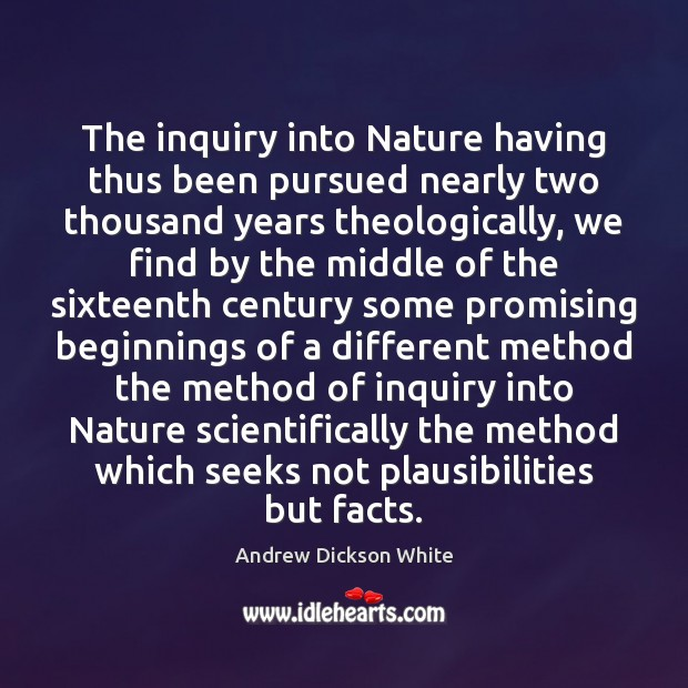 Image, The inquiry into Nature having thus been pursued nearly two thousand years