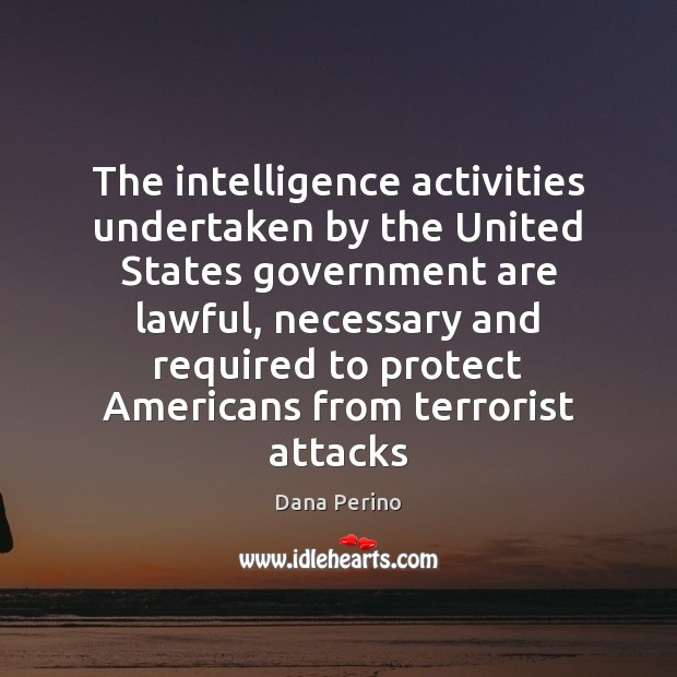 Image, The intelligence activities undertaken by the United States government are lawful, necessary