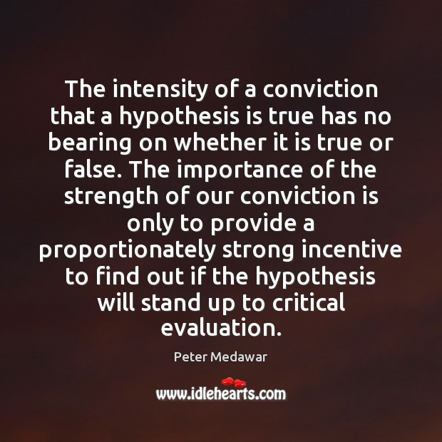 The intensity of a conviction that a hypothesis is true has no Image