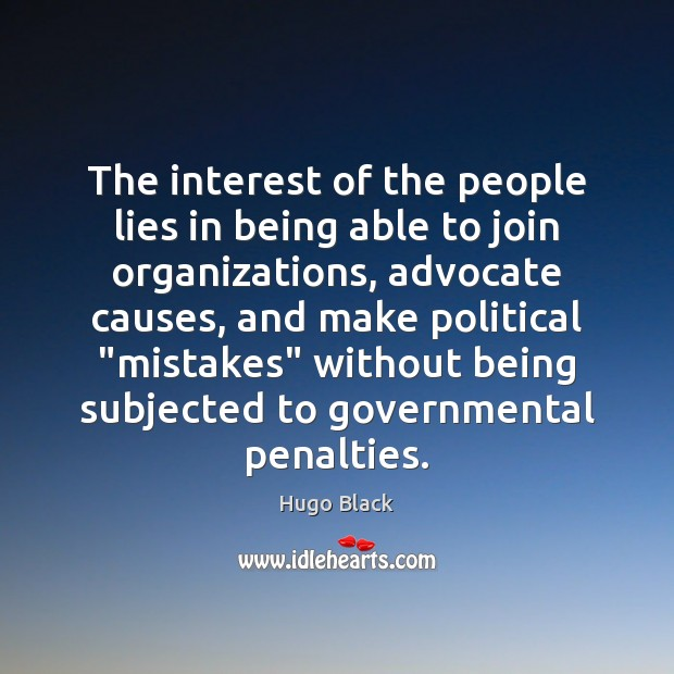 The interest of the people lies in being able to join organizations, Image