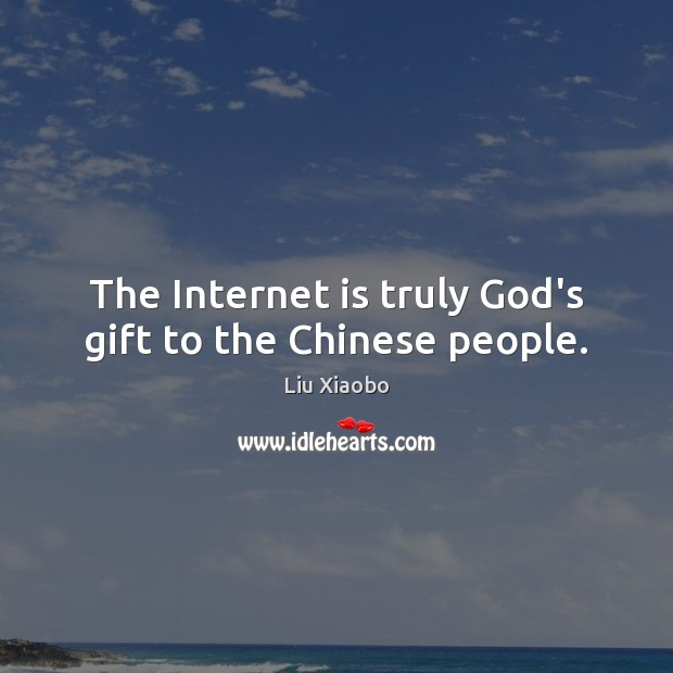 The Internet is truly God's gift to the Chinese people. Image