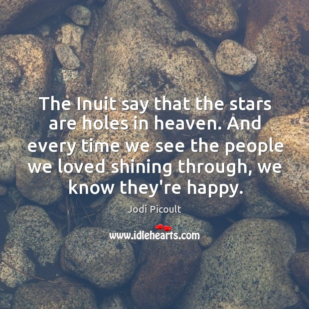 The Inuit say that the stars are holes in heaven. And every Image