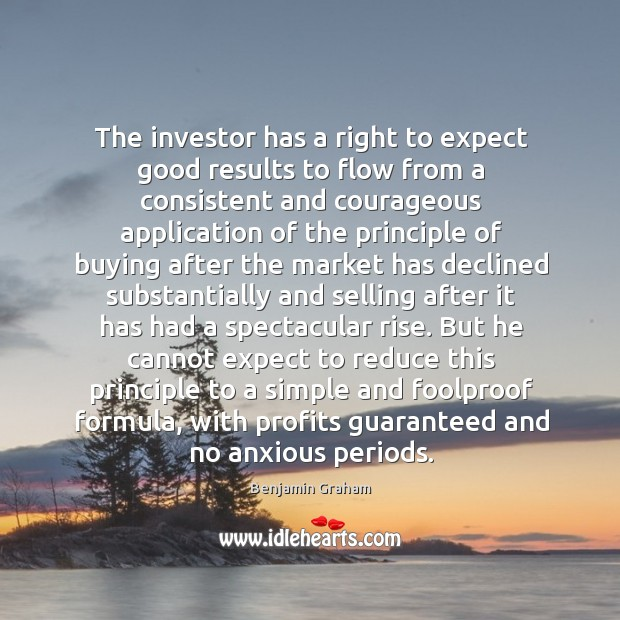 Image, The investor has a right to expect good results to flow from