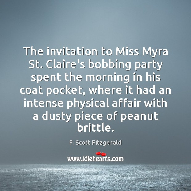 The invitation to Miss Myra St. Claire's bobbing party spent the morning Image