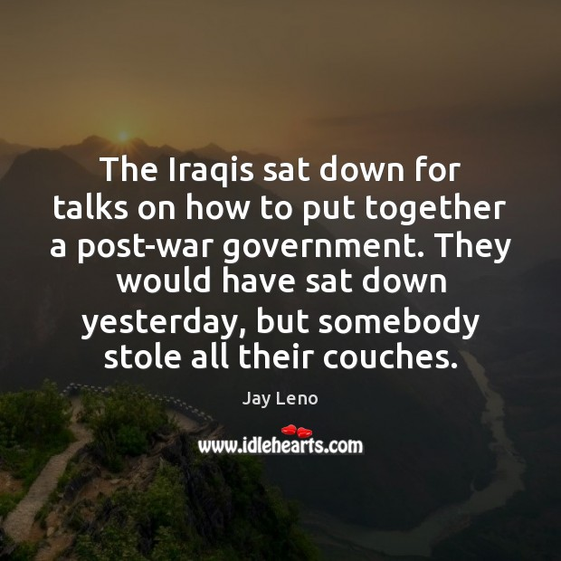 The Iraqis sat down for talks on how to put together a Image