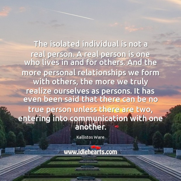 The isolated individual is not a real person. A real person is Image