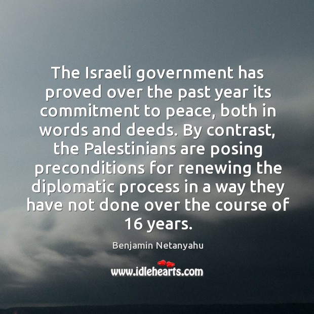 Image, The israeli government has proved over the past year its commitment to peace