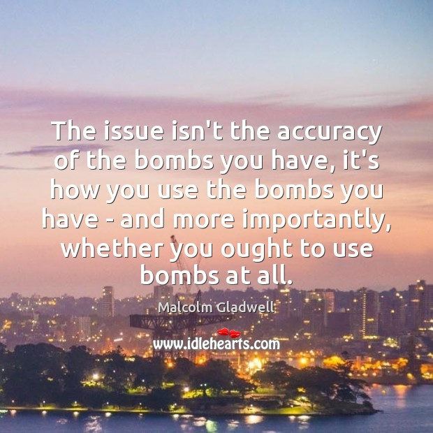 Image, The issue isn't the accuracy of the bombs you have, it's how