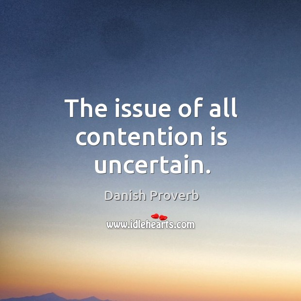 Image, The issue of all contention is uncertain.