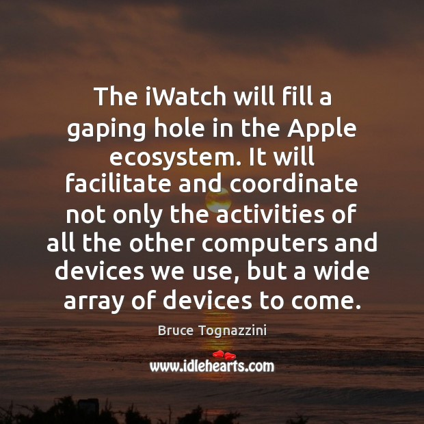Image, The iWatch will fill a gaping hole in the Apple ecosystem. It