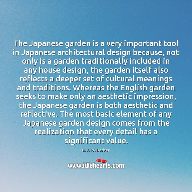 Image, The Japanese garden is a very important tool in Japanese architectural design
