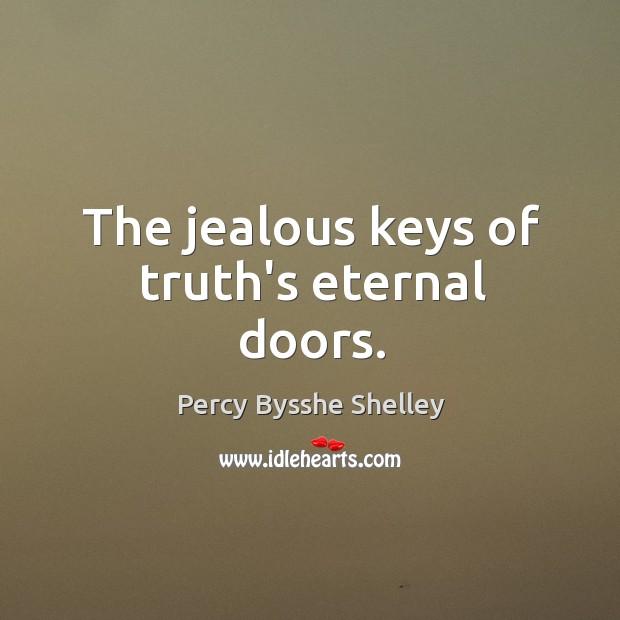The jealous keys of truth's eternal doors. Image