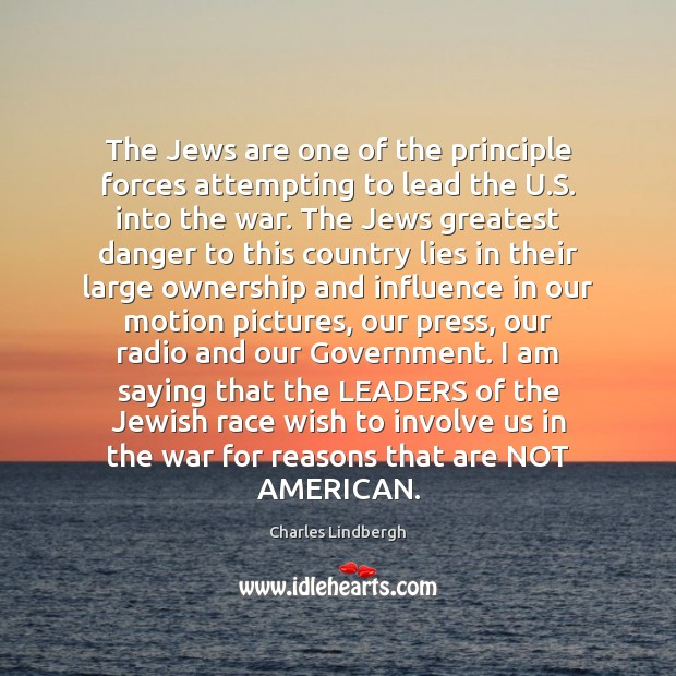 Image, The Jews are one of the principle forces attempting to lead the
