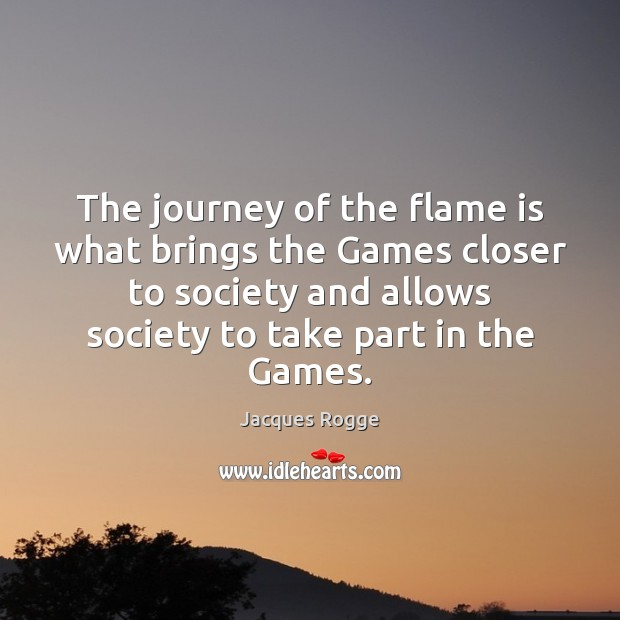 The journey of the flame is what brings the Games closer to Image