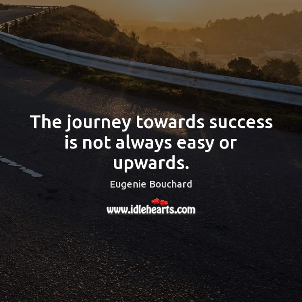 The journey towards success is not always easy or upwards. Image