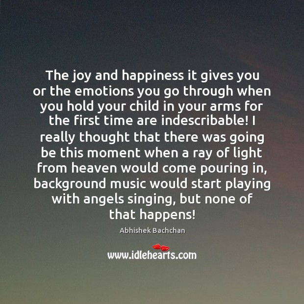 The joy and happiness it gives you or the emotions you go Joy and Happiness Quotes Image
