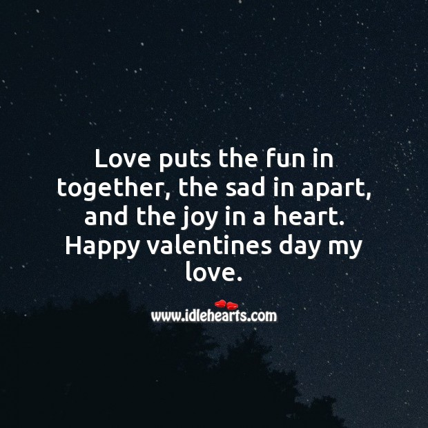 The joy in a heart Valentine's Day Quotes Image