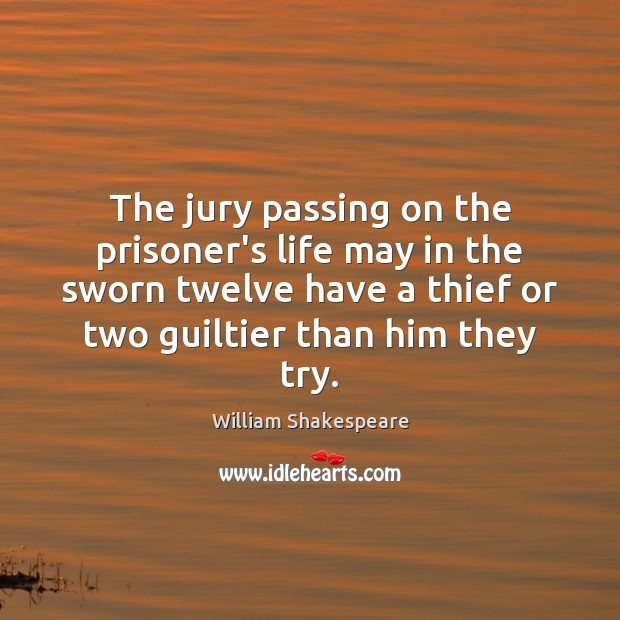 Image, The jury passing on the prisoner's life may in the sworn twelve