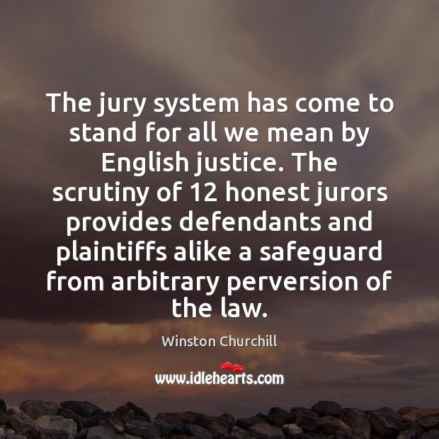 Image, The jury system has come to stand for all we mean by