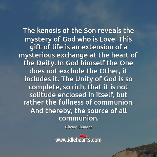 The kenosis of the Son reveals the mystery of God who is Image