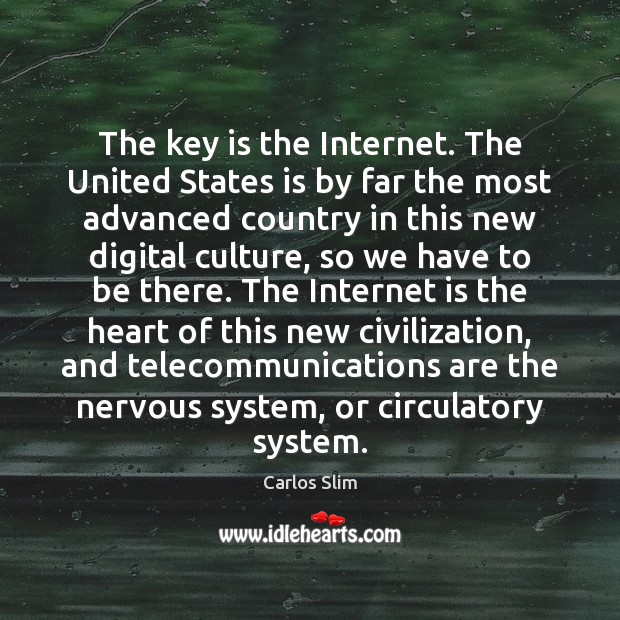 Image, The key is the Internet. The United States is by far the