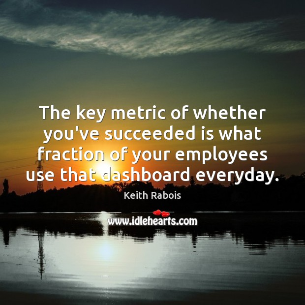 The key metric of whether you've succeeded is what fraction of your Image