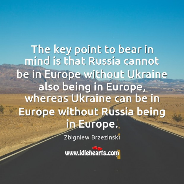 The key point to bear in mind is that Russia cannot be Image