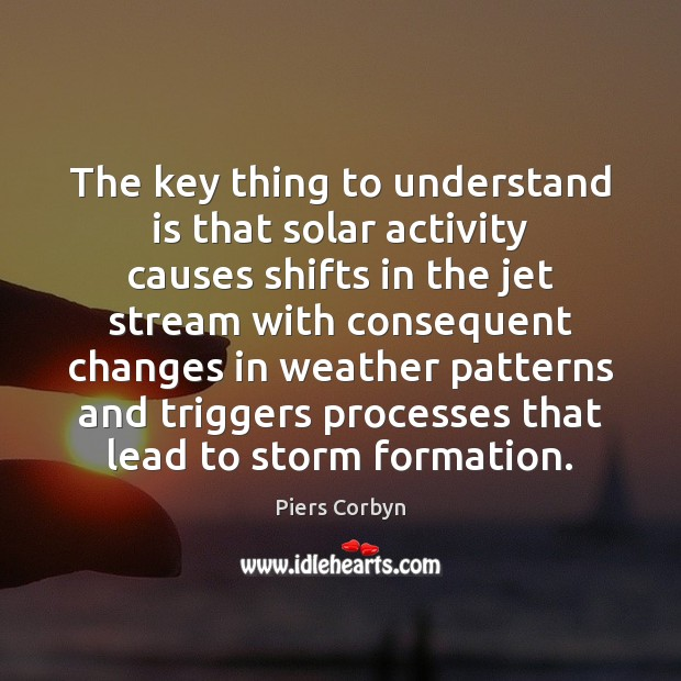 Image, The key thing to understand is that solar activity causes shifts in