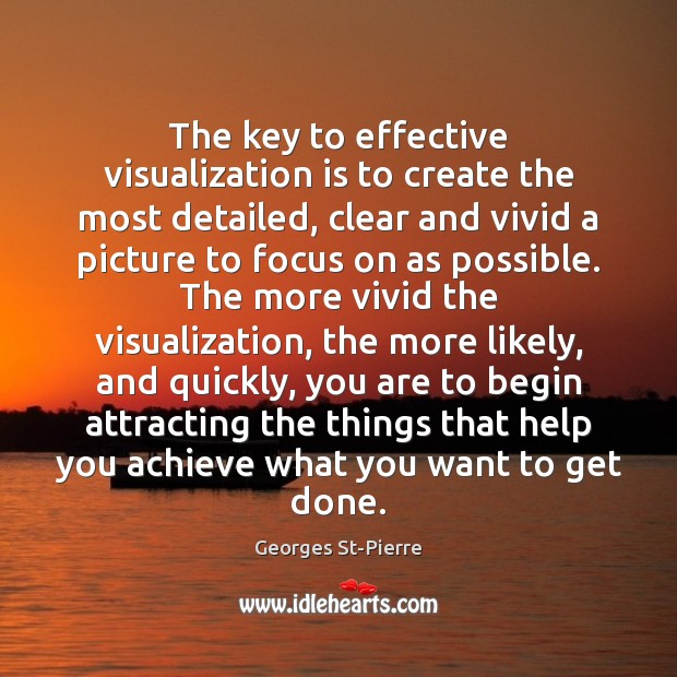 Image, The key to effective visualization is to create the most detailed, clear