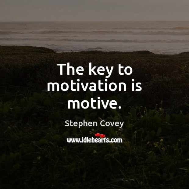The key to motivation is motive. Image