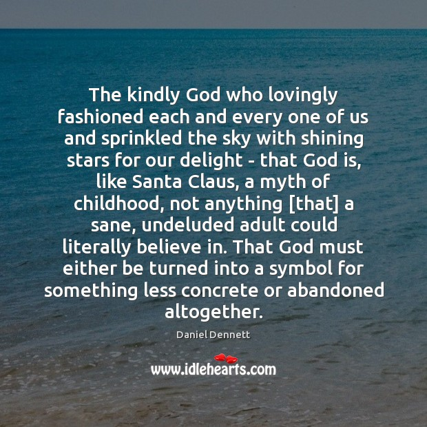 Image, The kindly God who lovingly fashioned each and every one of us