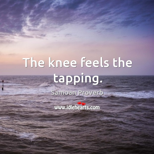 Image, The knee feels the tapping.