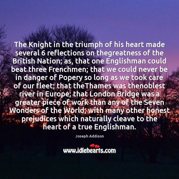 Image, The Knight in the triumph of his heart made several 6 reflections on