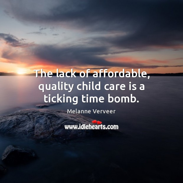 Image, The lack of affordable, quality child care is a ticking time bomb.