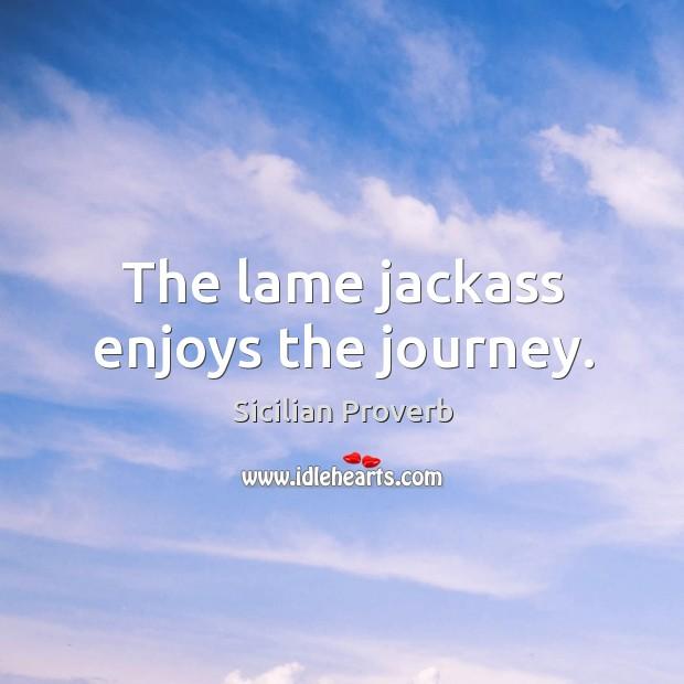 Image, The lame jackass enjoys the journey.