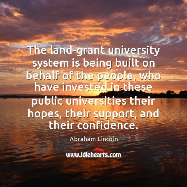 Image, The land-grant university system is being built on behalf of the people,