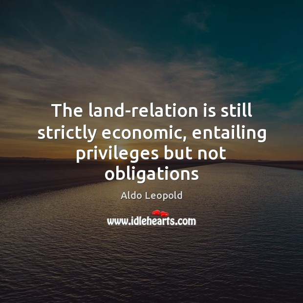 The land-relation is still strictly economic, entailing privileges but not obligations Image