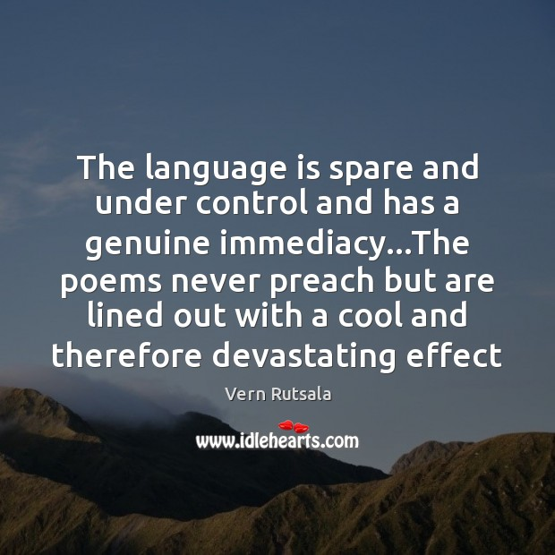 The language is spare and under control and has a genuine immediacy… Image