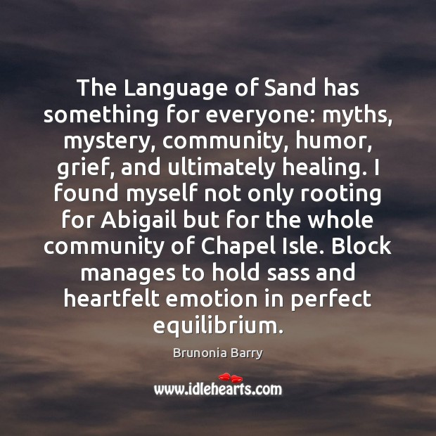 Image, The Language of Sand has something for everyone: myths, mystery, community, humor,